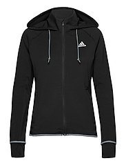 Designed To Move AEROREADY Full-Zip Hoodie W - BLACK/WHITE