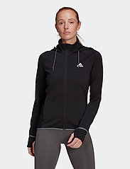 adidas Performance - Designed To Move AEROREADY Full-Zip Hoodie W - hupparit - black/white - 0