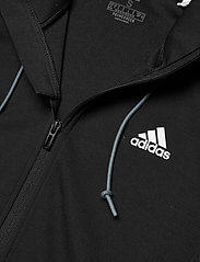 adidas Performance - Designed To Move AEROREADY Full-Zip Hoodie W - hupparit - black/white - 4