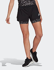 adidas Performance - Fast Two-in-One Primeblue Graphic Shorts W - träningsshorts - black/grefou - 0