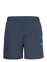 Short-Length Colorblock 3-Stripes Swim Shorts - CRENAV/HAZBLU