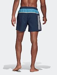 adidas Performance - Short-Length Colorblock 3-Stripes Swim Shorts - shorts - crenav/hazblu - 4