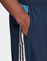 adidas Performance - Short-Length Colorblock 3-Stripes Swim Shorts - shorts - crenav/hazblu - 5