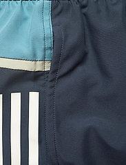adidas Performance - Short-Length Colorblock 3-Stripes Swim Shorts - shorts - crenav/hazblu - 6