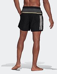 adidas Performance - Short-Length Colorblock 3-Stripes Swim Shorts - shorts - black/gresix - 3