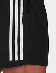adidas Performance - Short-Length Colorblock 3-Stripes Swim Shorts - shorts - black/gresix - 4