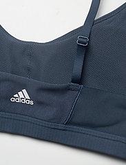 adidas Performance - All Me 3-Stripes Light Support Bra W - sort bras:high - crenav/white/white - 5