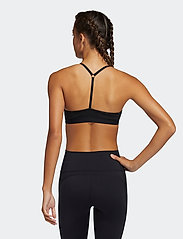 adidas Performance - All Me Light Support Training Bra W - sport bras: low - black/white - 3