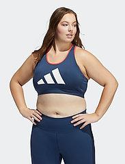adidas Performance - Don't Rest 3 Bar Medium Support Bra W (Plus Size) - sort bras:high - crenav/crered/white - 0