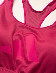adidas Performance - Don't Rest Bra W (Plus Size) - sport bras: high support - wilpnk/scrpnk - 4