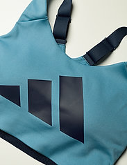 adidas Performance - Ultimate Alpha Adi Life Bra W - sort bras:high - hazblu/crenav/crenav - 4