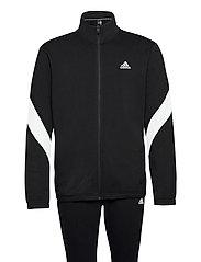 Sportswear Cotton Track Suit - BLACK/WHITE