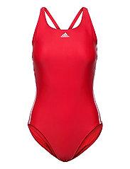 SH3.RO Classic 3-Stripes Swimsuit W - VIVRED/WHITE/VIVRED