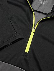 adidas Performance - Own The Run Running 1/2 Zip Sweatshirt - podstawowe bluzy - grefiv/black/aciyel - 2