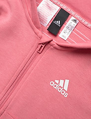 adidas Performance - 3-Stripes Full-Zip Hoodie - hoodies - hazros/white - 2