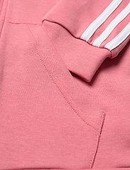 adidas Performance - 3-Stripes Full-Zip Hoodie - hoodies - hazros/white - 3
