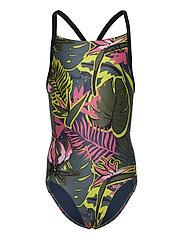 Flower Swimsuit - CRENAV/BLACK