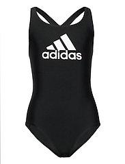 Badge of Sport Swimsuit - BLACK/WHITE