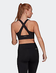 adidas Performance - Designed To Move AEROREADY Bra Top W - urheiluliivit: medium tuki - black/white - 3