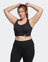 adidas Performance - Ultimate Bra W (Plus Size) - sort bras:high - black - 0