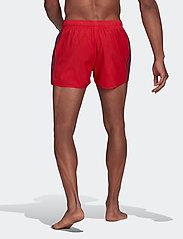 adidas Performance - Classic 3-Stripes Swim Shorts - shorts - glored/crenav - 5