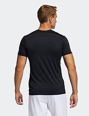 adidas Performance - Primeblue AEROREADY 3-Stripes Slim T-Shirt - oberteile & t-shirts - black - 3