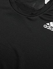 adidas Performance - Primeblue AEROREADY 3-Stripes Slim T-Shirt - oberteile & t-shirts - black - 4