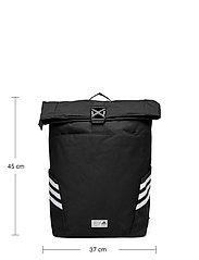 adidas Performance - Classic Roll-Top Backpack - sportstasker - black/white - 5