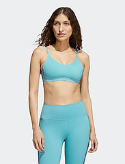 adidas Performance - All Me 3-Stripes Low Support Sports Bra W - sport bras: low support - minton/white - 0