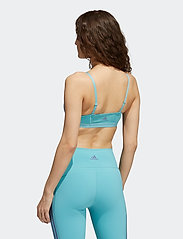 adidas Performance - All Me 3-Stripes Low Support Sports Bra W - sport bras: low support - minton/white - 3