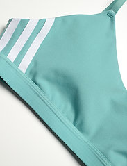 adidas Performance - All Me 3-Stripes Low Support Sports Bra W - sport bras: low support - minton/white - 4