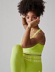 adidas Performance - Training Aeroknit Bra W - sport bras: low - aciyel - 4