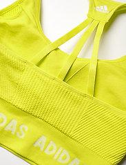 adidas Performance - Training Aeroknit Bra W - sport bras: low - aciyel - 7