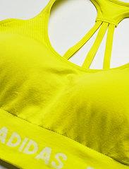 adidas Performance - Training Aeroknit Bra W (Plus Size) - sportbeh''s: low - aciyel - 3