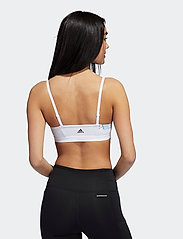 adidas Performance - Floral Graphic Low Support Sports Bra W - sport bras: low support - white - 2