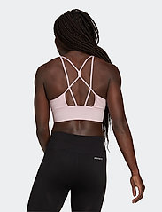 adidas Performance - Aeroknit Designed To Move Seamless Low Support Bra Top W - sport bras: low support - clpink - 3
