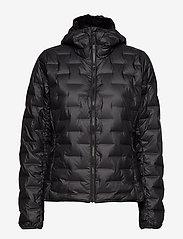 adidas Performance - W Light Down Ho - outdoor & rain jackets - black - 1