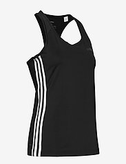 adidas Performance - W D2M 3S TANK - tank tops - black/white - 4