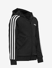 adidas Performance - YG E 3S FZ HD - kapuzenpullover - black/white - 2