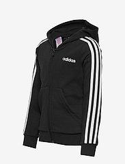 adidas Performance - YG E 3S FZ HD - kapuzenpullover - black/white - 3