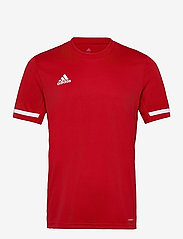 adidas Performance - Team 19 Short Sleeve Jersey - football shirts - powred/white - 0