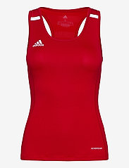 adidas Performance - Team 19 Compression Tank Top W - topjes - powred/white - 0