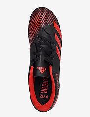 adidas Performance - PREDATOR 20.4 FxG - jalkapallokengät - cblack/actred/ftwwht - 3