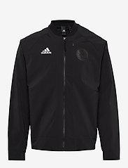 adidas Performance - V BOMBER M - track jackets - black - 1
