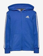 adidas Performance - YB MH 3S FZ - kapuzenpullover - blue/white - 0