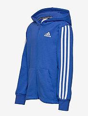 adidas Performance - YB MH 3S FZ - kapuzenpullover - blue/white - 2