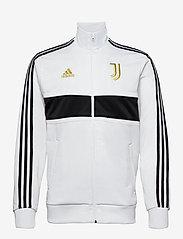 adidas Performance - JUVE 3S TRK TOP - sweatshirts - white/black/pyrite - 0