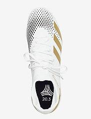adidas Performance - PREDATOR 20.3 IN - fodboldsko - ftwwht/goldmt/cblack - 3