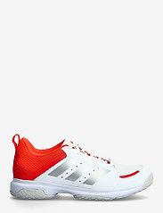 adidas Performance - Ligra 7 Indoor  W - indendørs sportssko - ftwwht/aciyel/solred - 1