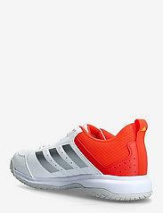 adidas Performance - Ligra 7 Indoor  W - indendørs sportssko - ftwwht/aciyel/solred - 2
